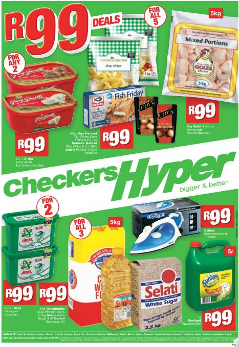 Gauteng Checkers Hyper Specials 28 Mar 2016 10 Apr 2016 Find Specials