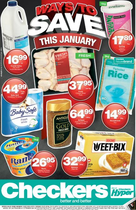 Western Cape Checkers Promotions 25 Jan 2016 31 Jan 2016