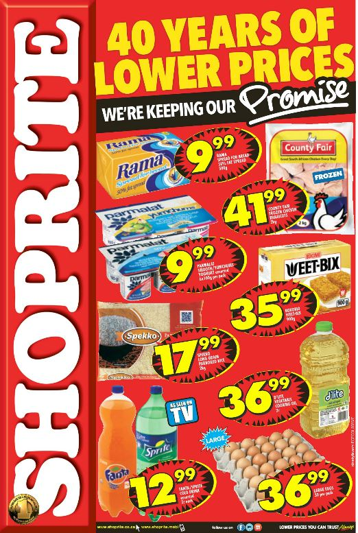 Shoprite is one of the chain stores that really aims to please their customers by providing the lowest prices possible on everyday necessities. They go out of their way to ensure the communities they serve are well looked after. Shoprite specials are a deal you don't want to miss out on.