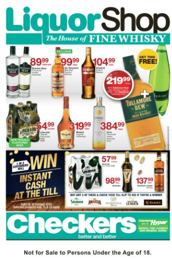 Eastern Cape Checkers Liquorshop Deals 26 Sep 2016 09 Oct 2016 Find Specials