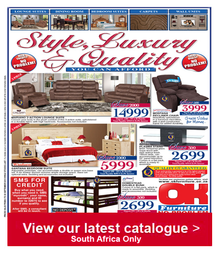 Ok furniture luxury style catalogue 08 sep 2015 20 sep 2015 find specials Home furniture catalogue south africa