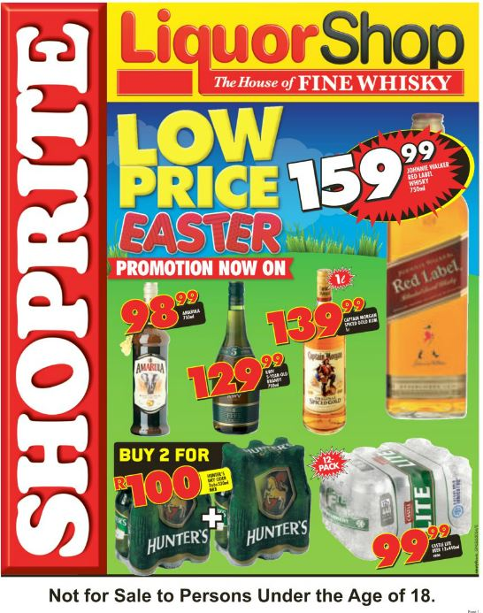 Kzn Shoprite Liquorshop Deals 18 Mar 2016 03 Apr 2016