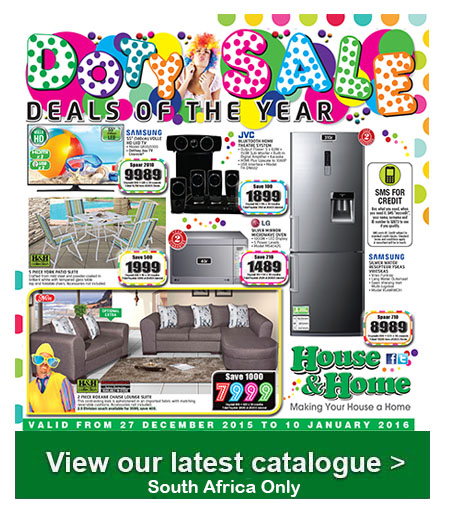 House And Home Doty Sale 27 Dec 2015 10 Jan 2016 Find Specials