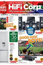 Hifi Corp Weekly Specials 26 Aug 2015 30 Aug 2015 Find