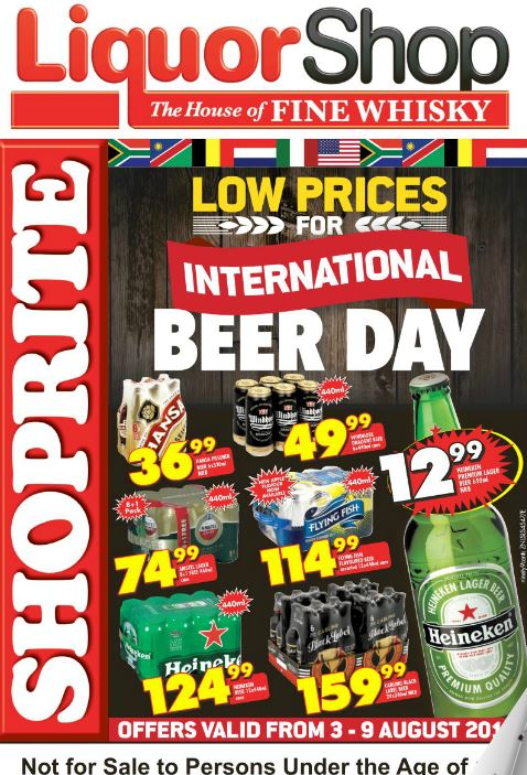 Kzn Liquor Shop International Beer Day Promotions 03 Aug