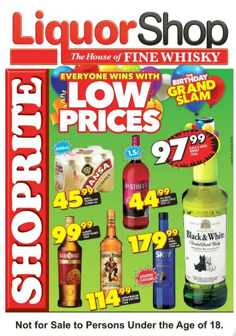 Kzn Liquor Shop Deals 24 Aug 2015 06 Sep 2015 Find