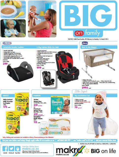 Makro Big On Family Baby Catalogue 28 Feb 2016 14 Mar 2016 Find Specials
