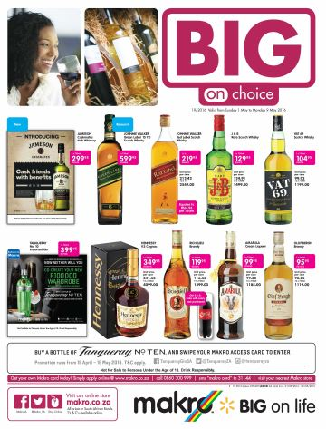Makro Liquor Deals 01 May 2016 09 May 2016 Find Specials