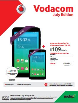 Vodacom deals on tablets