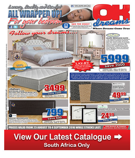 Ok Furniture Bedroom Deals 23 Aug 2016 04 Sep 2016 Find Specials: home furniture catalogue south africa