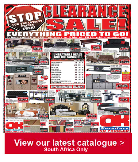 Ok furniture clearance sale 23 feb 2016 06 mar 2016 find specials Home furniture catalogue south africa