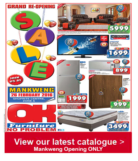 Furniture Stores Black Friday: OK Furniture Store Opening Specials 22 Feb 2016