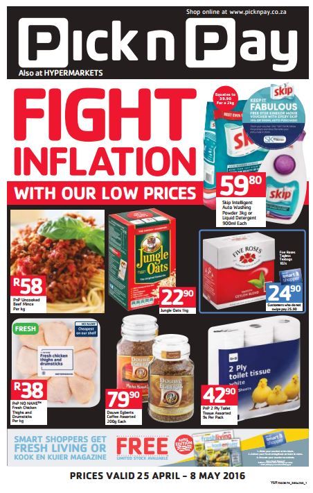 Pick N Pay Fight Inflation Promotions 25 Apr 2016 08 May