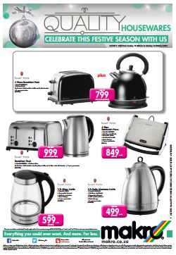 Russell Hobbs Specials At Makro 18 Oct 2015 26 Oct 2015 Find Specials