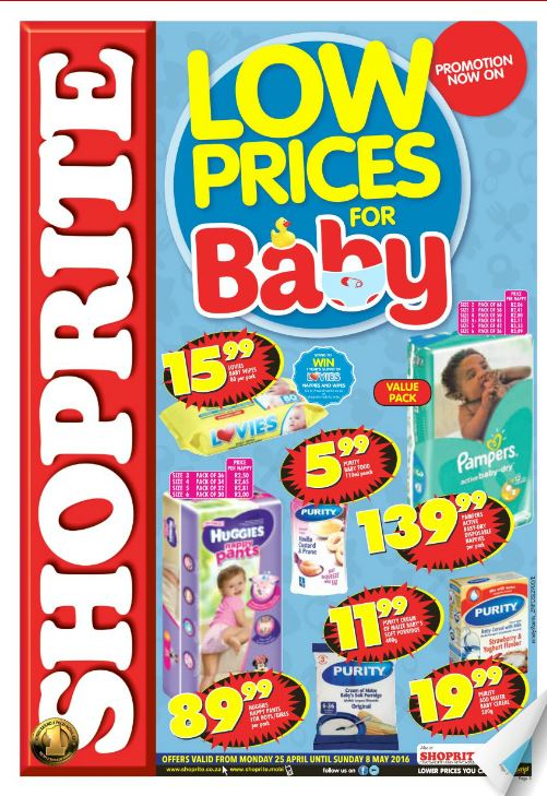 Kzn Shoprite Baby Product Specials 25 Apr 2016 08 May