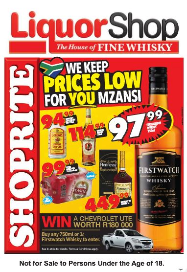 Kzn Shoprite Liquorshop Deals 26 Sep 2016 09 Oct 2016