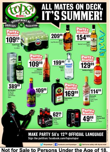Tops Liquor Specials 28 Dec 2015 04 Jan 2016 Find Specials