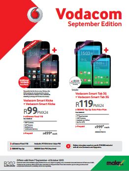 Makro Vodacom September Edition Catalogue 07 Sep 2015 07