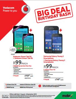 The Vodacom Big Deal Birthday Bash Sale 01 Aug 2015 06
