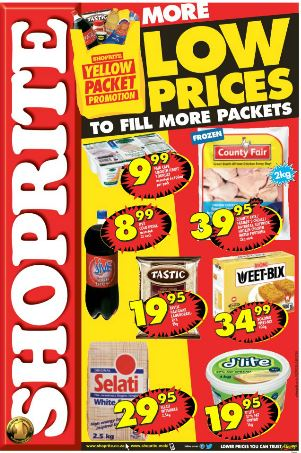 Western Cape Shoprite Yellow Packet Specials 27 Jun 2016 10 Jul 2016 Find Specials