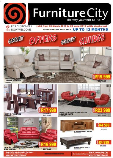 Furniture city furnure specials 08 mar 2016 08 jun 2016 find specials Home furniture catalogue south africa
