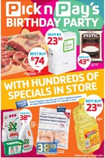 Find Specials || Pick n Pay Birthday Party Catalogue