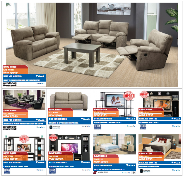 Joshua doore and russells specials catalogue 20 jun 2016 25 jul 2016 find specials Home furniture catalogue south africa