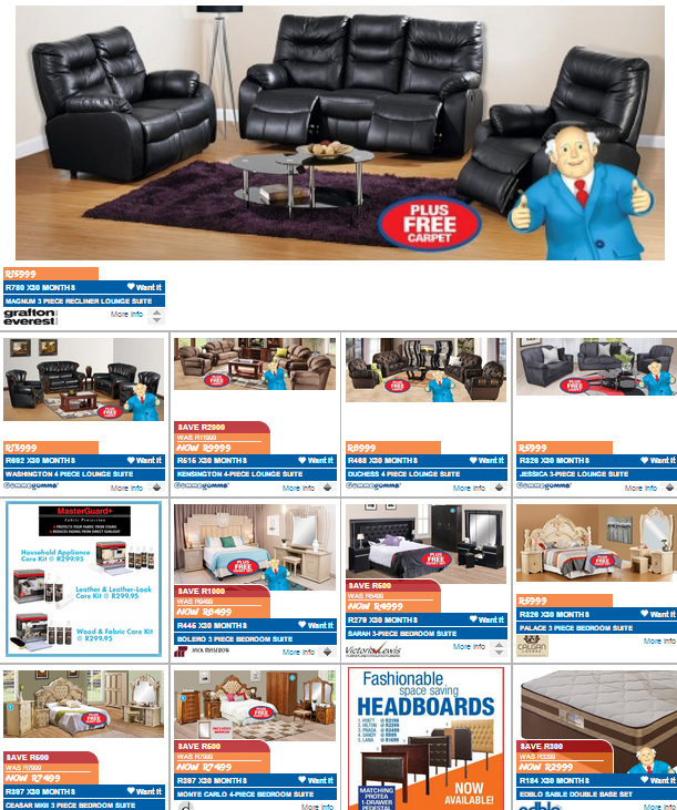 Russells and joshua doore 25 aug 2015 31 aug 2015 find specials Home furniture catalogue south africa